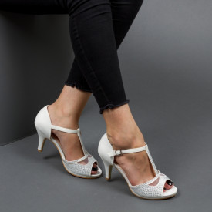 Sandale ''Mei Fashion QZL9502 White'' [D1F5]