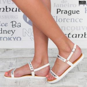 Sandale ''Mei JZF3 White'' [D10B1]