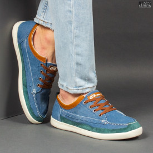 Pantofi Sport ''23DEC. M9033-12 Blue Brown''