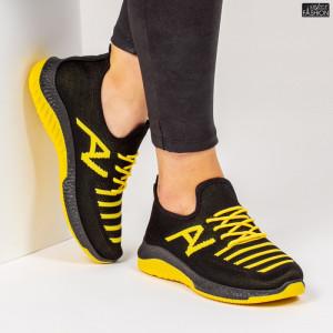 Pantofi Sport ''ALD Fashion HQ-3-20 Black Yellow''