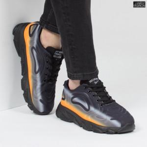 Pantofi Sport ''Fashion Balq A2061 Black Yellow'' [S23C11]