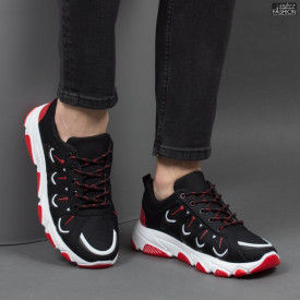 Pantofi Sport ''Fashion Balq G-001 Black Red'' [S18C7]