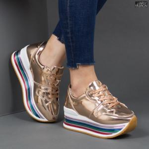 Pantofi Sport ''Lavy 3709-12 Rose Gold'' [D1F9]