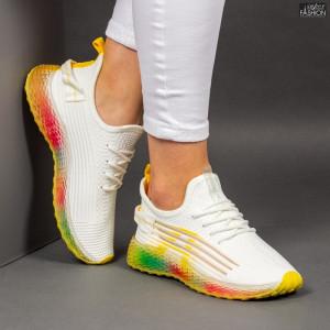 Pantofi Sport ''Mei YKQ210 White Yellow'' [D9D8]