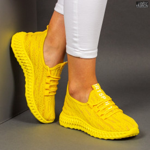 """Pantofi Sport """"Z Fashion ZA-62 Yellow"""" [D12D3]"""