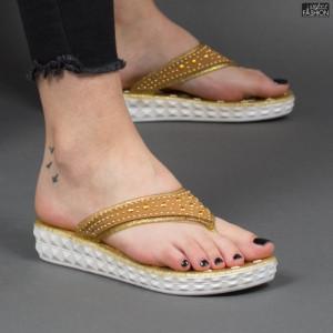 Papuci ''Aierda 8801 Gold'' [D16C7]
