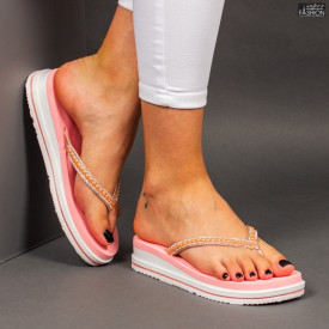 Papuci ''Mei Fashion WS85 Pink'' [D14D1]