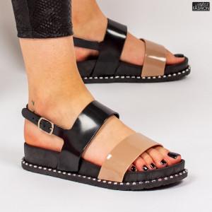 Sandale ''ALD Fashion HQ-L6091 Black Camel'' [D22D1]