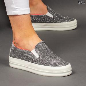 "Espadrile ""D.L. Fashion 5078 Silver "" [LC1]"
