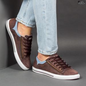 Pantofi Sport ''23DEC. M9027-02 Brown Blue'' [S7C4]