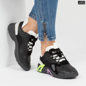 Pantofi sport ''ABC 1B12-7 Black'' [D3B1]