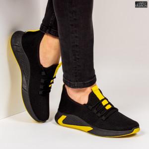 Pantofi Sport ''ABC 9081 Black Yellow'' [S13E7]