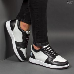 Pantofi Sport ''ABC A08 White Black''