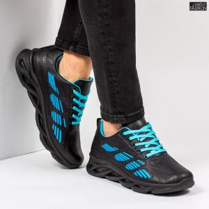 "Pantofi Sport ""ALD Fashion HQ-103-068 Black Blue''"