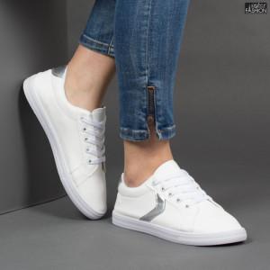 Pantofi Sport ''ALD Fashion HQ-119 White Silver''
