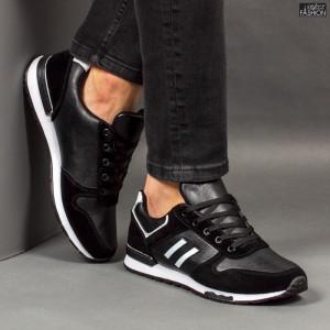 """Pantofi Sport """"Delux Fashion 1811 Black White'' [S9B11]"""