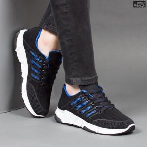Pantofi Sport ''Fashion Balq A-051 Black Blue'' [S21B4]