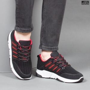Pantofi Sport ''Fashion Balq A-051 Black Red'' [S14C2]