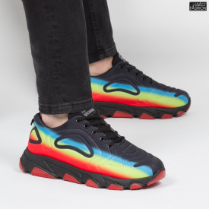 Pantofi Sport ''Fashion Balq A2061 Black Red'' [S8B5]