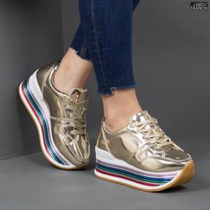 Pantofi Sport ''Lavy 3709-12 Gold'' [D6E3]