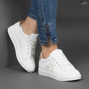 Pantofi Sport ''MERIDIAN Fashion 909 White Gold''