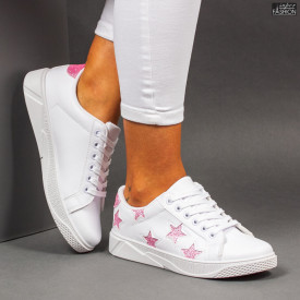 Pantofi Sport ''Veer Fashion F1821-7 White Pink''