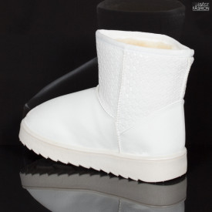 cizme fete albe