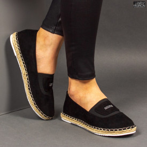 Espadrile ''Feet Fashion F-27 Black'' [D8D2]