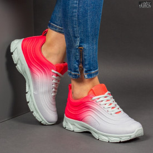 Pantofi Sport ''ABC J1836 Grey Red'' [D7D4]