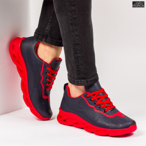 "Pantofi Sport ""ALD Fashion HQ-111-106 Navy Red''"