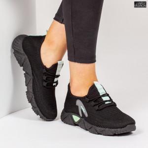Pantofi Sport ''ALD Fashion HQ-202-231 Black L. Green'' [D13E8]