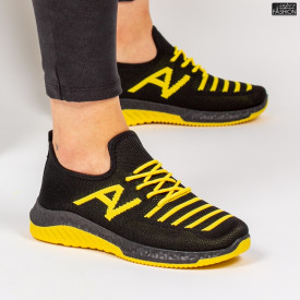 Pantofi Sport ''ALD Fashion HQ-3-20 Black Yellow'' [D10E3]