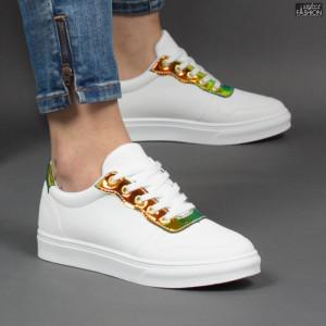 Pantofi Sport ''ALD Fashion HQ-F23 White Yellow'' [D23F12]