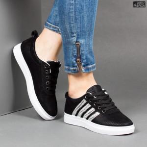 Pantofi Sport ''BAO SPORT 8002 Black Silver'' [D23B11]