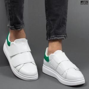 Pantofi Sport ''DCF.68 B83 White Green'' [S4E5]