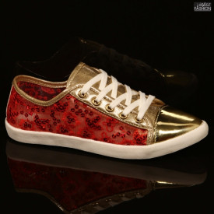 Pantofi Sport ''DeSun CF08-8 Red / Gold''