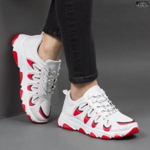 Pantofi Sport ''Fashion Balq G-001 White Red''