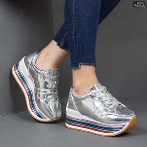 Pantofi Sport ''Lavy 3709-12 Silver'' [D16E6]