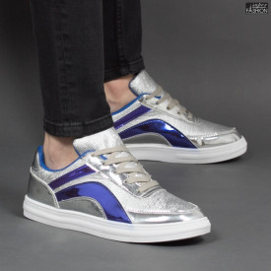 """Pantofi Sport """"Meek FX-9 Silver"""" [S18C4]"""