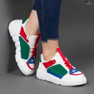 Pantofi sport ''Mei YKQ68 White'' [D16E1]