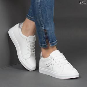 Pantofi Sport ''MERIDIAN Fashion 909 White Silver''