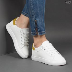 Pantofi Sport ''NANA 571 White Yellow''