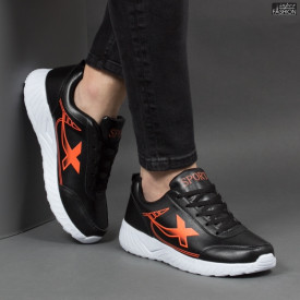 """Pantofi Sport """"SPORT Fashion 320 Black Orange"""" [S10D11]"""