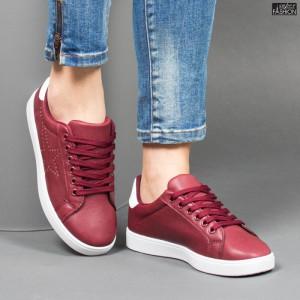 Pantofi Sport ''Veer Fashion A1813-4 Wine Red'' [D23F1]
