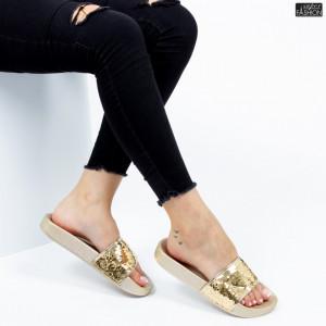 Papuci ''Mei Fashion WS63 Gold''