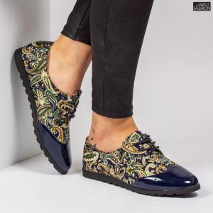 Pantofi ''Feet Fashion B72 Flowers Blue''