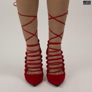 Pantofi ''Mei AF3602 Red'' [D23E11]