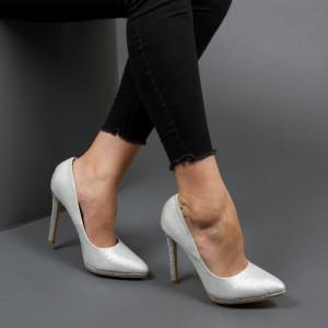 Pantofi ''Mei Fashion XKK6703 Silver'' [D4F6]