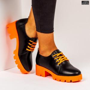 """Pantofi """"Mei ZP1971 Black Orange"""""""