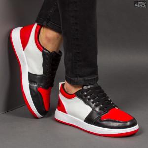Pantofi Sport ''ABC A08 White Red''